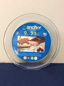 Anchor Hocking Oven Basics Pie Dish 9 Inch Clear 82638L11   (S)