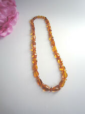 Natural Amber necklace with polished long beads. Great quality and colour. Mint.
