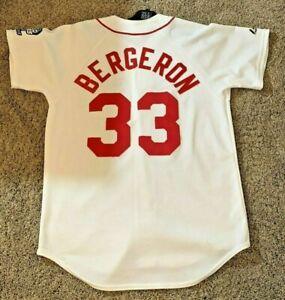Majestic Bergeron 33 Boston Red Sox 2004 World Series Jersey Mens M Sewn Rare