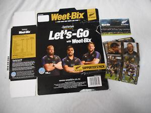 #T117.  WEETBIX BOX & SET NZ JUNIOR RUGBY UNION CAMP HOLOGRAM CARDS + GOLDEN