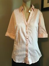 NWTS!!  7TH AVENUE NEW YORK & CO LIGHT PINK BUTTON FRONT SHIRT! SIZE M