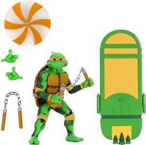 """NECA Teenage Mutant Ninja Turtles: Turtles in Time 7"""" Scale Michelangelo Figures"""