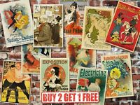 A3 Vintage High Quality French Advertisement Retro Posters Art Nouveau Home Art