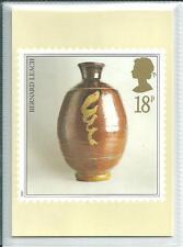GB - PHQ CARDS -1987 - STUDIO POTTERY - BACK - FDI/SHS - COMP SET  USED