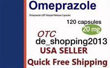 120 Caps Omeprazol Non-Presc OTC Omeprazole 20mg Heartburn GERD Acid Reflux