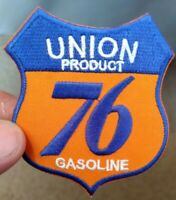Union 76 Gasoline Logo Embroidered 2.75 X 3 In. Patch Gas & Oil Advertising Used