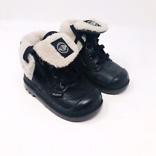 Palladium Baggy Leather Boot Black Pilot Toddler size 5 Shearling