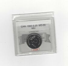 **1993**, Coin Mart Graded Canadian, 25 Cent, **MS-66 NBU**