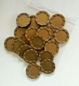 Stacking Counters - (new pack of 20 gold colour counters 40mm diam x 4mm high)