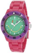 Smiley Happy Time WGS-CBRGV01 Colour Block Pink Green Dial Quartz Watch