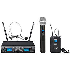 Pulse Pwm2000uhf-hh/bp UHF Dual Wireless Microphone System