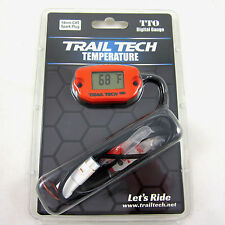 Trail Tech TTO Temperature Meter Digital Gauge 14mm Spark Sensor Orange 743-ET3