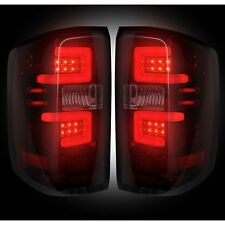 RECON 264297RBK Chevy Silverado 16-17 1500 2500 3500 Red-Smoked Tail Lights LED