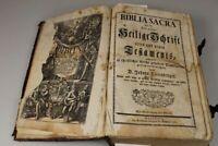Biblia Sacra - Dietenberger Bibel mit Stichen 1776 + Bildtafel mit Päpsten /S336