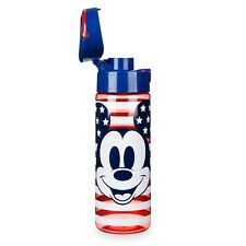 DISNEY Store WATER Bottle MICKEY MOUSE AMERICANA Plastic Drink 24 oz NEW