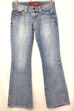 GUESS Womens Jeans Size 8L 6L Blue Stretch, Low Rise, Daredevil Flare, 30x31