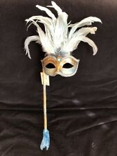 Original Venitian Mask Hand Made In Venice L'atelier Della Maschera NWT Blue
