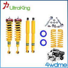 "Toyota Prado 120 Series 4WD Shocks Front & Rear + KING Coil Springs 3"" Lift Kit"