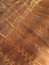 Tischläufer Organza bronze kupfer mit Eckenbeschwerer 145 x 36 cm neu