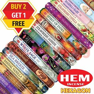 Up to 480 Sticks Incense Stick Scents Hem Hexagon Meditation Aroma Fragrance