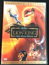 DISNEY The Lion King DVD 2-Disc Set Platinum Edition Features All-New Song MOVIE