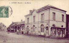 CPA 50 St Lo Marigny Carantilly Dangy Gourfaleur CANISY La Mairie 1913 Animée