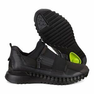 ECCO ZipFlex Men's Slip-On Shoes Black Sizes EU 42 - 46 / FREE SHIPPING / NEW