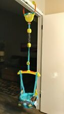 Bright Starts Bounce 'N Spring Deluxe Door Jumper Blue Gently Used