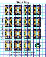 Warlord Games Roman Legionary Shield Waterslide Transfers by Battle Flag Pat.8