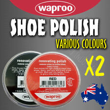 WAPROO SHOE POLISH CREAM (2Pack) RESTORE COLOUR TO SCUFFED LEATHER SHOES BOOTS
