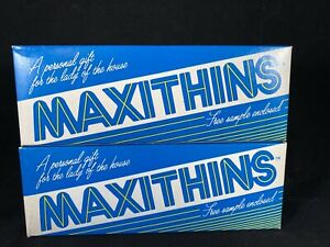 (2) Vintage MAXITHINS Free Sample Boxes. 4 In each Box D8