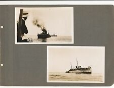 4 Original Photos HMS Hastings . and a Native Girl 1930 - 1937