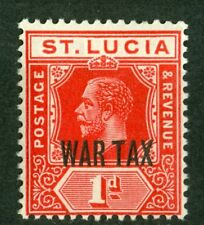 St. Lucia 1916, War Tax, SG# 90, SC# MR2, 1d, Optd , MNH 2107