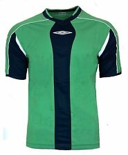 NEW Mens XL Umbro Evo Training Top T Shirt NAVY GREEN Football Gym Running XXL