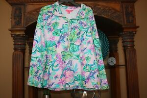 Lilly Pulitzer Amethyst Tint Mermaid In The Shade Skipper Popover Size XL RARE