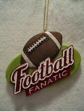 "KSA ""FOOTBALL FANATIC"" Ornament ~ Personalizable ~ Great Gift Idea"