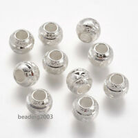 10pcs Metal European Large Hole Spacer Rondelle Beads Jewellery Craft 10x8mm