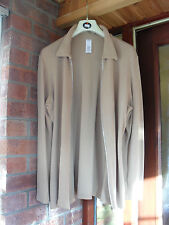 ladies size14 EXPENSIVE top quality beige designer jacket with zip front