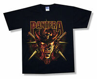 """PANTERA """"COWBOY"""" DEMON HAT FROM HELL BLACK T-SHIRT NEW OFFICIAL ADULT SMALL S"""