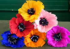 """Mexican Paper Flowers Set of 6  Multicolor """"We Make Special Orders"""" By Julia"""