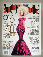 Vogue Magazine - September, 2012 -- Lady Gaga -- nice cond ~~ Giant Fall Fashion
