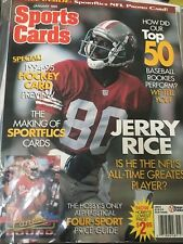 JERRY RICE January 1995 SPORT CARDS Magazine