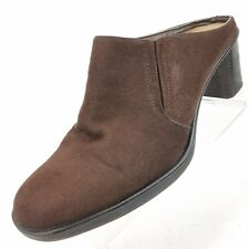 White Stag Womens Size 7.5 M Patty Mules Slip On Brown Casual Shoes