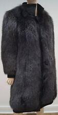 BALLY Designer Women's Black Thick Fur Funnel Neck Popper Fastened Winter Coat M