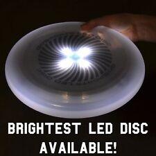 (White) GoSports LED Flying Light Up Disc - Night Time Fun!