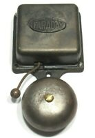 Faraday No. 1  Early Antique Electric Telephone Trolley Fire Alarm Bell Pat 1907