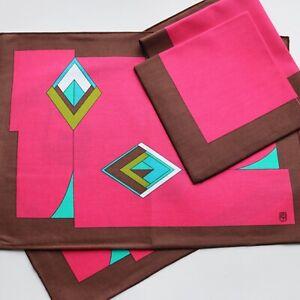 Vintage Emilio Pucci table linen - place mat and napkin x 2