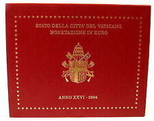 💰VATICAN OFFICIAL EURO COIN SET 2004 -FIRST EDITION, 8 UNC/PROOF COINS