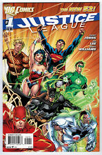 JUSTICE LEAGUE #1 9.6 HIGH GRADE NEW 52 2011 1ST WHITE PAGES MODERN AGE