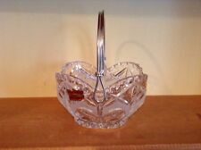 Echt Bleikristall lead crystal handled basket West Germany
